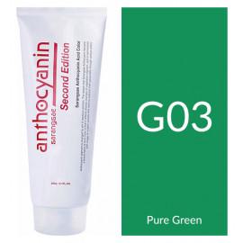 "Краска для волос ""Anthocyanin Second Edition G03 Pure Green, 230 мл"""