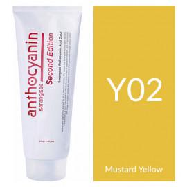 "Краска для волос ""Anthocyanin Second Edition Y02 Mustard Yellow, 230 мл"""